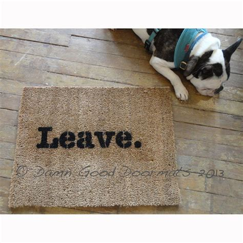 Leave Doormat Leave Unwelcome Doormat Rude Novelty Doormat