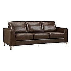 verona leather sofa verona home baldwin leather sofa bed bath beyond