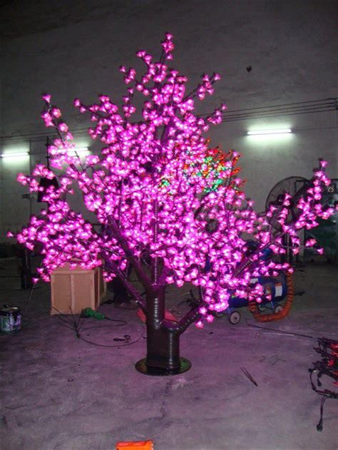 color laixiang led cherry blossom tree light 1m to 6m pink