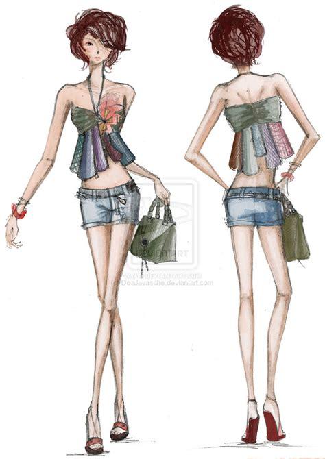 fashion illustration front and back fashion illustration by deajavasche on deviantart