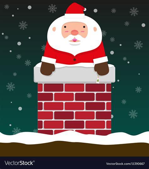 big santa claus big santa claus come out of chimney vector image