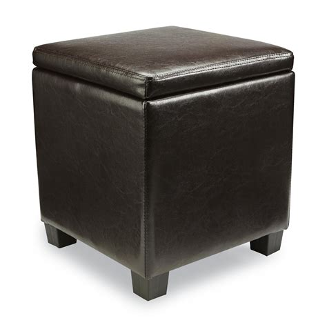sears ottoman linon jamelia brown storage ottoman multipurpose