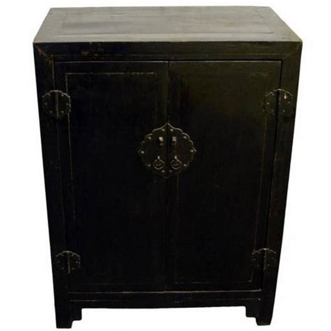chinese black lacquer cabinet antique chinese black lacquer side cabinet for sale at 1stdibs