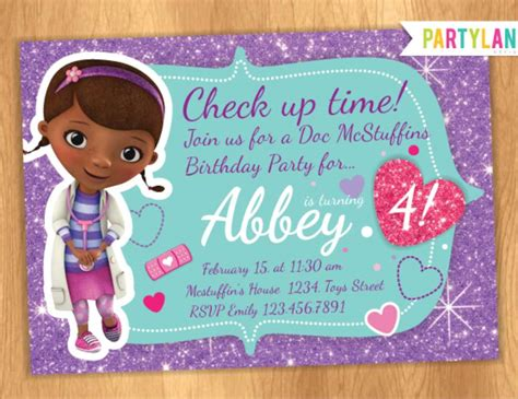 free doc mcstuffins invitation templates doc mcstuffins birthday invitations wblqual