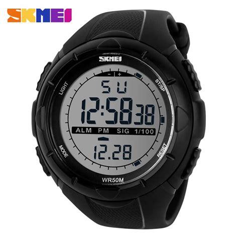 jam tangan skmei dg1025 digital skmei jam tangan sport digital pria dg1025 black