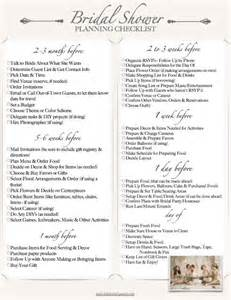 Bridal Shower Planning Templates by 10 Best Ideas About Bridal Shower Checklist On