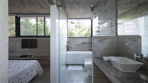 raw concrete home    built  concrete