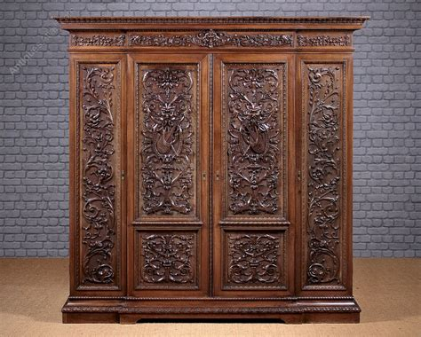 Carved Wardrobe by Late 19th C Carved Wardrobe C 1880 Antiques Atlas