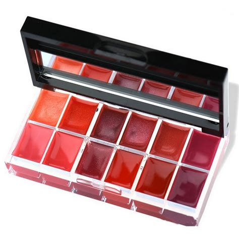 Diskon Make Lip Color Palette 12 farben moisturizing lip gloss palette verfassungs lippenstift make up set neu ebay