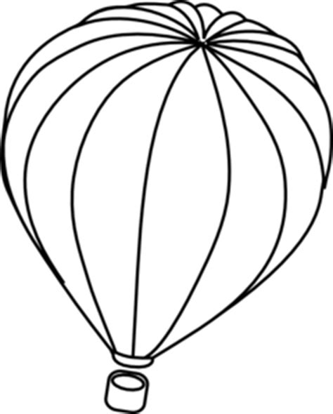 Hot air balloon outline clip art at clker com vector clip art online royalty free amp public domain