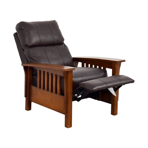 macy s recliner chairs 76 off macy s macy s harrison brown leather pushback