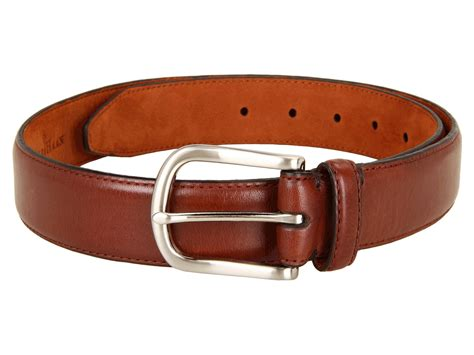 cole haan harrison dress belt in brown for brown