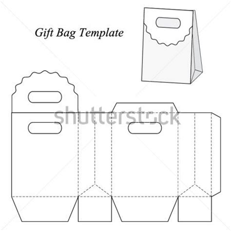 Gift Bag Cards For Baby Template by Gift Bag Template Vector Illustration Stock Vector