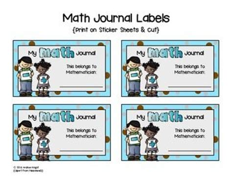 printable math journal labels i print these quot math journal labels quot on solid white sheets