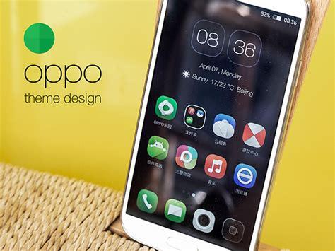 themes oppo mobile oppo phone theme design on behance