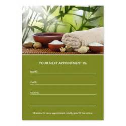 day spa massage aromatherapy appointment card large