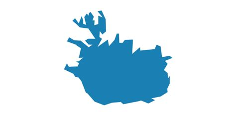 iceland map vector europe vector stencils library