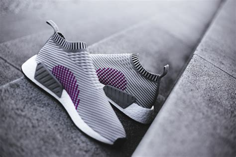 Kith X Adidas Nmd City Shock 2 Grey adidas nmd cs2 primeknit grey shock pink where to buy