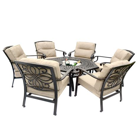 pit dining table with chairs gregg wallace 6 chair firepit set with 150cm low hexagonal
