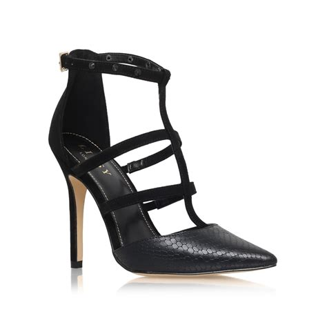 black strappy high heels lipsy cora high heel strappy sandals in black lyst