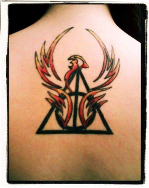 harry potter phoenix tattoo deathly hallows tattoos