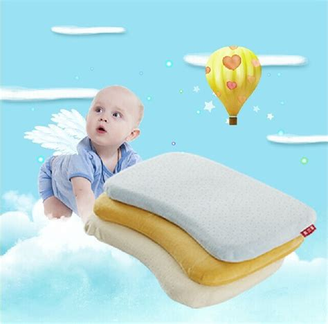 Dunlopillo Pillow Baby Oval baby pillow health memory foam infant shape toddler oval for care in pillow from