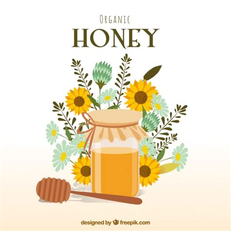 sfondo con i fiori sfondo miele con i fiori scaricare vettori gratis