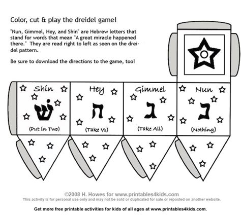 What Is A Dreidel How To Make And Play With This Traditional Toy Make A Dreidel Template