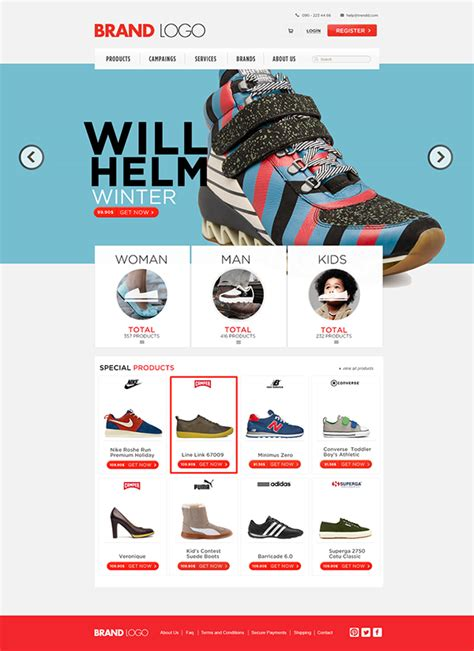 free html shop template shopping template free psd on behance