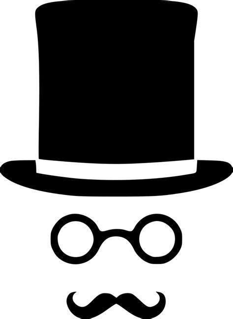 cylinder glasses mustache gentleman svg png icon