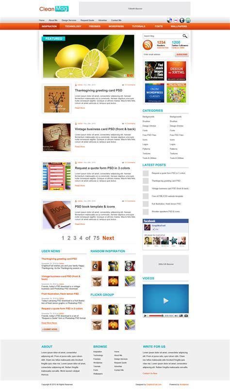 blog theme like pinterest wordpress blog theme psd template graphicsfuel