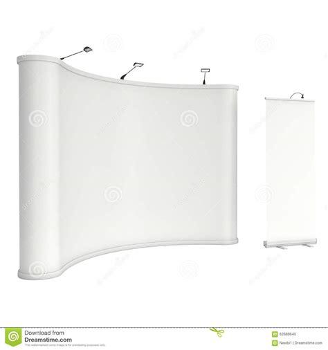 Pedestal Up Roll Up And Pop Up Banner Stands Stock Illustration
