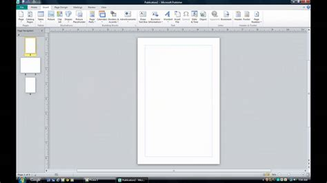 Laying Out A Booklet In Publisher 2010 Youtube Microsoft Publisher Book Cover Template