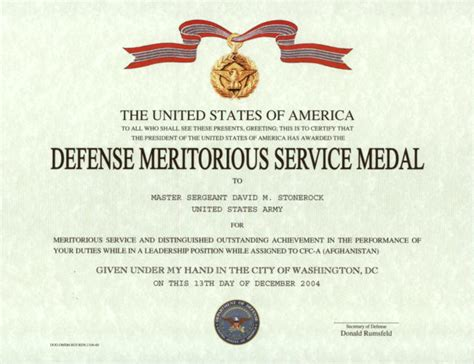army good conduct medal certificate template best and