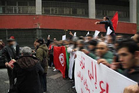 consolato tunisia roma la protesta tunisina arriva a napoli corrieredelmezzogiorno