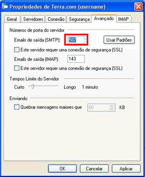 porta smtp como alterar a porta smtp de 25 para 587 no windows live