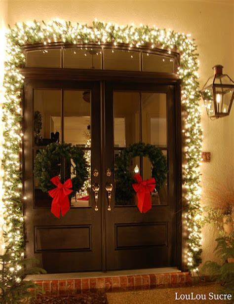 i love the lights around the door holidays events