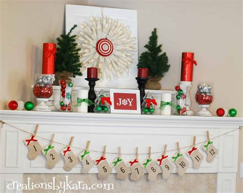 christmas ideas red and green christmas mantel