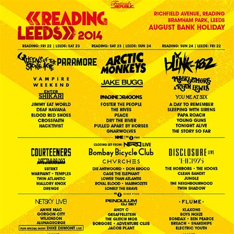 malpas reading festival 2015 26 years of reading and leeds festival line up posters