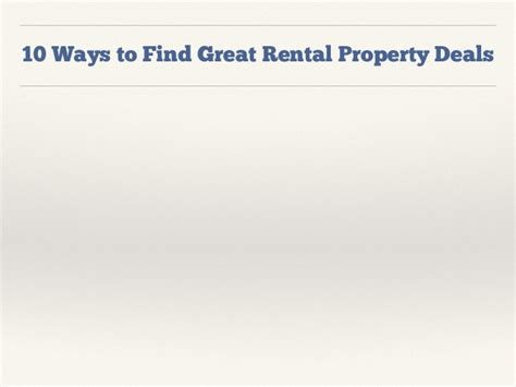 how to find analyze and finance a rental property