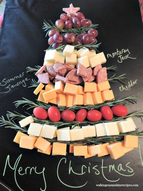 christmas appetizer tree board recipe tree cheese board platter walking on