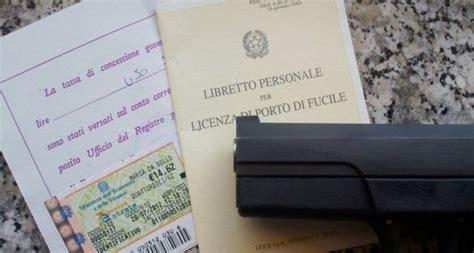 documenti per rinnovo porto d armi uso sportivo porto d armi come chiederlo ed ottenerlo fisco