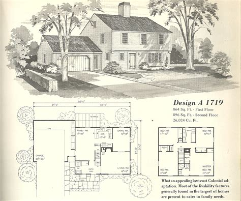 vintage house plans 1950s vintage house plans farmhouses