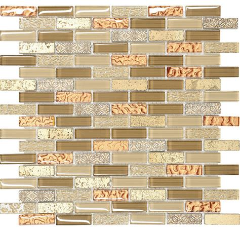 gold glass tile backsplash brown gold glass travertine mosaic kitchen backsplash tile