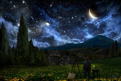 starry night starry night by alexruizart on deviantart