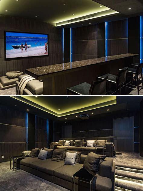 luxury home theater  custom marble bar  perfect