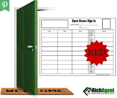 Keller Williams Re Max Red Open House Sign In Sheet Real Estate Agent Real By Richagent Tools Keller Williams Open House Sign In Sheet Template