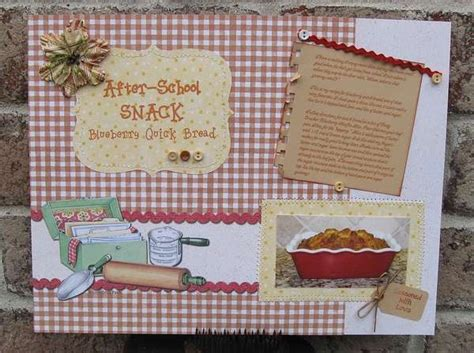 scrapbook layout recipe page layout recipe scrapbook ideas pinterest schools