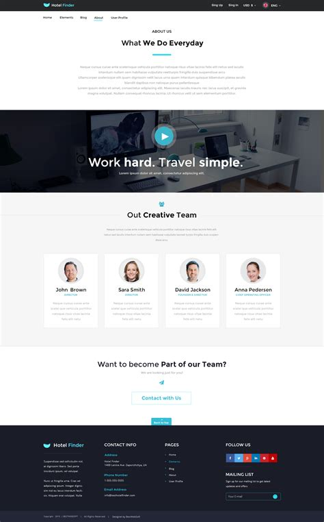 html about us page template html about us page template 28 images website template
