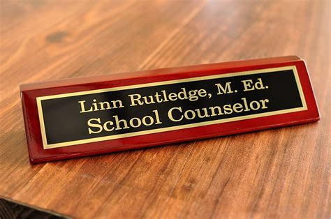 10 Quot Rosewood Desk Plate With Name Plate Name Tag Wizard